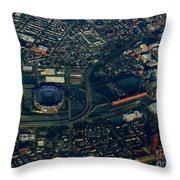 Ravens Stadium And Camden Yards Throw Pillow
