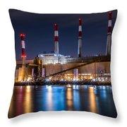 Ravenswood Generating Station Throw Pillow