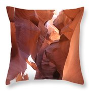 Ravine Walk - Antelope Canyon Throw Pillow