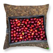 Raw Coffee Throw Pillow