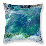 Raw Jade Rock Throw Pillow
