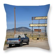 Rawlins Wyoming - Grandma's Cafe Throw Pillow