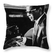 Ray Charles At The Piano Throw Pillow