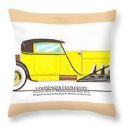 1922 Mercedes Benz By Raymond Dietrich Z Throw Pillow