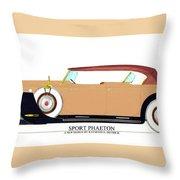 Raymond H Dietrich Packard Sport Phaeton Concept Throw Pillow