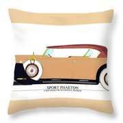 Raymond H Dietrich Packard Sport Phaeton Concept Throw Pillow