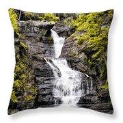 Raymondskill Falls In Milford Pa Throw Pillow