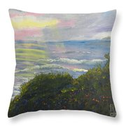 Rays Of Light At Burliegh Heads Throw Pillow