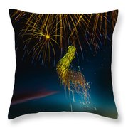 Rays Of Light From Above Throw Pillow by Robert Bales
