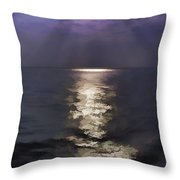Rays Of Light Shimering Over The Waters Throw Pillow