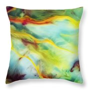 Rays Of The Sun Watercolor Abstraction Painting Throw Pillow