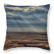 Rays On The Palouse Throw Pillow
