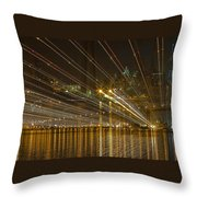 Rays Over The Bay Throw Pillow