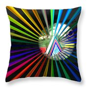 Rays To Triangle Throw Pillow
