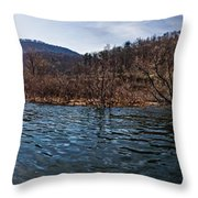 The Dam At Raystown Lake Throw Pillow