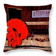 Razorback Country Throw Pillow by Benjamin Yeager