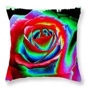 Razzle Dazzle Rose Throw Pillow