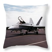 Rcaf F-18 Throw Pillow