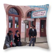 Re-enactors Bird Cage Theater Rendezvous Of The Gunfighters Tombstone Arizona 2004            Throw Pillow