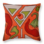 Red Hot Chili Pepper Martini With A Twist Throw Pillow