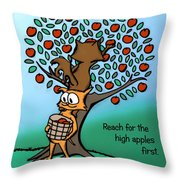 Reach For The High Apples Throw Pillow