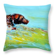 Reach Throw Pillow by Molly Poole