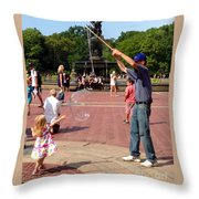 Reach Out And Grab The Bubble Throw Pillow