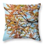 Reaching Autumn Throw Pillow