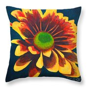 Reaching Bloom Throw Pillow