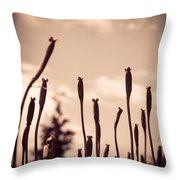 Flowers Reaching For The Sky Throw Pillow