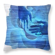 Reaching In The Light  Throw Pillow