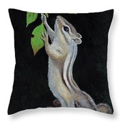 Reaching Throw Pillow by Mike Stinnett