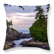 Reaching Out To The Ocean Throw Pillow