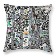 Reaching Shadow Silver Art Throw Pillow by Mary Clanahan