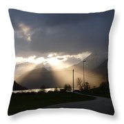Reaching Through The Coulds Throw Pillow