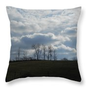 Reaching To The Clouds Throw Pillow