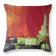 Reaching Up, Abstract  Throw Pillow