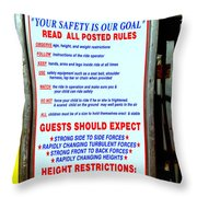 Read All Posted Rules Throw Pillow