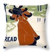 Read The Sun Throw Pillow