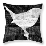 Reader Bird Throw Pillow