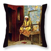 Reading In 1888 Throw Pillow