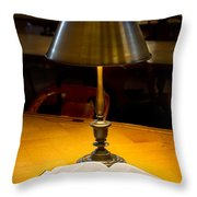 Reading Lamp And Book Throw Pillow