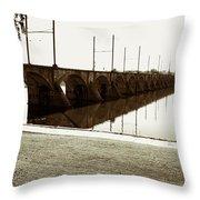 Cumberland Valley Railroad Bridge Throw Pillow