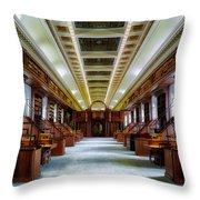 Reading Room In The Library Of Congress Throw Pillow