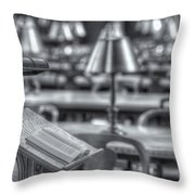 Reading Stand And Tables II Throw Pillow