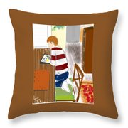 Reading The Little Prince Throw Pillow