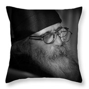 Reading The News On-line Throw Pillow
