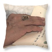 Reading The Passover Hagadah  Throw Pillow
