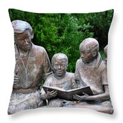 Reading The Story Throw Pillow