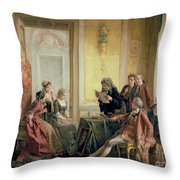 Reading The Will Throw Pillow
